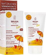 Парфюмерия и Козметика Слънцезащитно мляко за чувствителна кожа - Weleda Edelweiss Baby&Kids Sun SPF 30