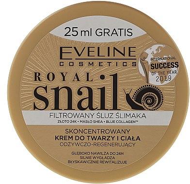 Крем за лице и тяло с екстракт от охлюв - Eveline Royal Snail — снимка N2