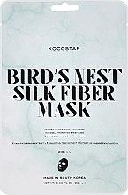 Парфюмерия и Козметика Копринена маска за лице с екстракт от птиче гнездо - Kocostar Bird's Nest Silk Fiber Mask