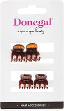 Парфюми, Парфюмерия, козметика Щипки за коса FA-5819, мини, кафяви, 4 бр. - Donegal Hair Clip