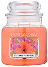 """Парфюми, Парфюмерия, козметика Ароматна свещ в бурканче """"Слънце и лайка"""" - Country Candle Sunshine & Daisies"""