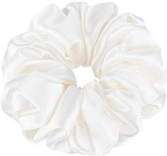 """Парфюмерия и Козметика Ластик за коса от естествена коприна, млечен """"Largy"""" - Makeup Largy Scrunchie Milk"""