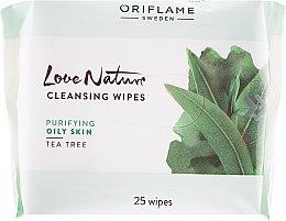 """Парфюми, Парфюмерия, козметика Почистващи кърпи за лице """"Чаено дърво"""" - Oriflame Cleansing Wipes"""