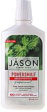 Парфюмерия и Козметика Избелваща вода за уста с мента - Jason Natural Cosmetics Power Smile