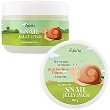 Парфюмерия и Козметика Хидратираща маска за лице с екстракт от охлюв - Esfolio Snail Shape Memory Jelly Pack
