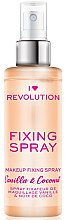 Парфюмерия и Козметика Фиксиращ спрей за грим - I Heart Revolution Fixing Spray Vanilla & Coconut