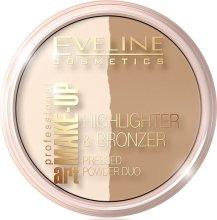 Парфюми, Парфюмерия, козметика Двойна пудра за лице - Eveline Cosmetics Art. Professional Make-Up Glam