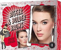 Парфюми, Парфюмерия, козметика Комплект за вежди - Benefit Bigger & Bolder Brows Kit (brow/gel/3g + brow/hail/2.8g + brow/gel/3.5ml + асс)