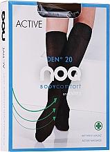 """Парфюмерия и Козметика Дамски масажиращи 3/4 чорапи """"Active"""" 20 Den, nero - Knittex"""