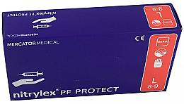 Парфюмерия и Козметика Сини ръкавици, без прах, размер L - Mercator Medical Nitrylex Basic