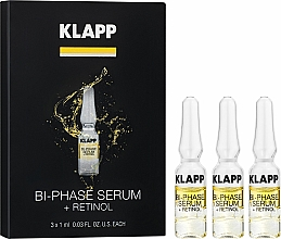 Парфюмерия и Козметика Двуфазен серум за лице с ретинол - Klapp Bi-Phase Serum Retinol