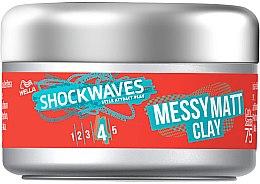 Парфюми, Парфюмерия, козметика Матова глина за коса - Wella Shockwaves Messy Matt Clay