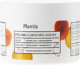 """Парфюмерия и Козметика Пилинг за тяло """"Личи и масло от макадамия"""" - Vis Plantis Sugar & Salt Body Scrub"""