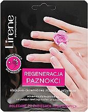 Парфюмерия и Козметика Подхранваща и регенерираща маска за ръце - Lirene Dermo Program