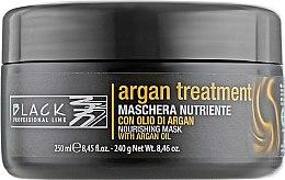 Парфюми, Парфюмерия, козметика Маска за коса с арганово масло, кератин и колаген - Black Professional Line Argan Treatment Mask