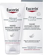 Парфюмерия и Козметика Крем за атопична кожа на ръцете - Eucerin AtopiControl Intensiv Hand Creme