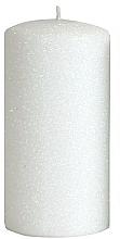 Парфюмерия и Козметика Декоративна свещ, бяла, 7x14 см - Artman Glamour