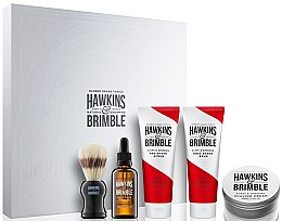 Парфюми, Парфюмерия, козметика Комплект - Hawkins & Brimble Men Gift Set (scr/125ml+asb/125ml+br/oil/50ml+sh/cr/100ml+sh/brush)