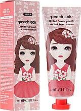 Парфюмерия и Козметика Подхранващ крем за ръце с екстракт от праскова - The Orchid Skin Flower Peach Tok Tok Hand Cream