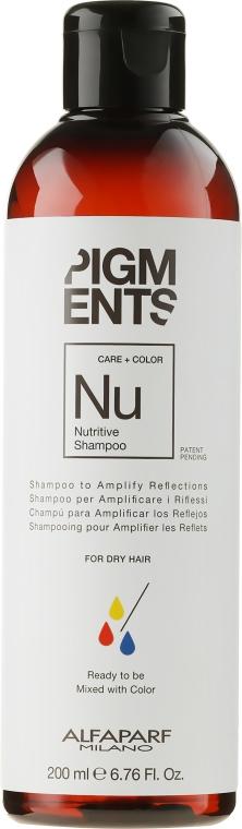 Шампоан за поддържане на цвета - Alfaparf Milano Pigments Nutritive Shampoo — снимка N1