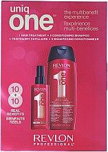 Парфюми, Парфюмерия, козметика Комплект спрей и шампоан-балсам за коса - Revlon Professional Uniq One (spray/150ml + shm/cond/300ml)