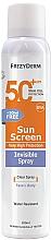 Парфюмерия и Козметика Слънцезащитен крем спрей за лице и тяло - Frezyderm Sun Screen Invisible SPF50+ Spray