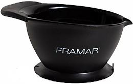 Парфюмерия и Козметика Купа за смесване на боя с вакуумно поставяне, черна - Framar SureGrip Suction Bowl Black
