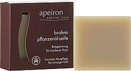 """Парфюмерия и Козметика Натурален сапун за суха кожа """"Брахми"""" - Apeiron Brahmi Plant Oil Soap"""