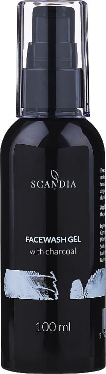 Измиващ гел за лице с активен въглен - Scandia Cosmetics Face Wash Gel — снимка N1