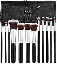 Парфюмерия и Козметика Професионален комплект четки за грим, 12бр, черно - Tools For Beauty