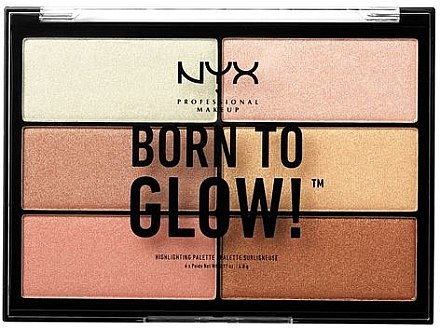 Палитра хайлайтъри - NYX Professional Makeup Professional Born to Glow Highlighting Palette