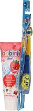 Парфюмерия и Козметика Комплект четка и паста за зъби, 1-6 години - Bobini (toothbrush + toothpaste/75ml)
