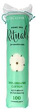 Парфюми, Парфюмерия, козметика Козметични памучни тампони, 100бр - Cleanic Home Spa 100% Organic Cotton