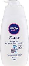 Парфюмерия и Козметика Детски успокояващ измиващ гел за тяло и коса - Nivea Baby Pure & Sensitive Emolient