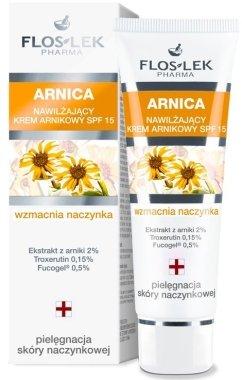 Овлажняващ крем за кожа с разширени капиляри с Арника SPF 15 - Floslek Moisturizing Arnica Cream SPF 15