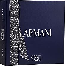 Парфюмерия и Козметика Giorgio Armani Emporio Armani Stronger With You - Комплект (тоал. вода/100ml + тоал. вода/мини/15ml + душ гел/75ml)