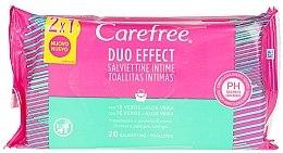 Парфюмерия и Козметика Интимни мокри кърпички, 40 бр. - Carefree Intimate Aloe Vera Wet Wipes