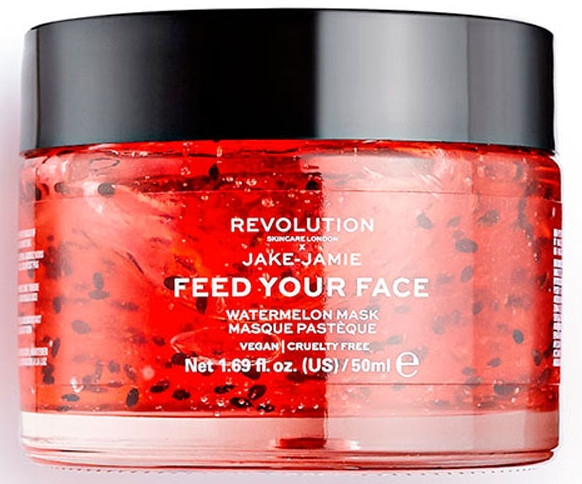 Овлажняваща маска за лице - Makeup Revolution Skincare X Jake Jamie Feed Your Face Watermelon Hydrating Face Mask — снимка N1