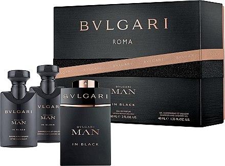 Bvlgari Man In Black - Комплект (edp/60ml + sh/gl/40ml + a/sh/balm/40ml) — снимка N1