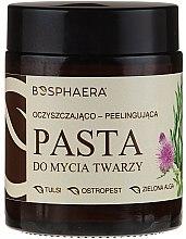 Парфюмерия и Козметика Почистваща пилинг паста за лице със зелени водорасли - Bosphaera