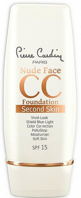 СС крем - Pierre Cardin Nude Face CC Foundation Second Skin SPF 15