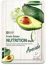 Парфюмерия и Козметика Подхранваща маска за лице с авокадо - SNP Fruits Gelato Nutrition Mask