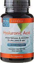"""Парфюми, Парфюмерия, козметика Хиалуронова киселина """"Природен овлажнител"""" за кожа, стави и очи 100 mg, 60 капсули - NeoCell Hyaluronic Acid"""