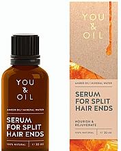 Парфюмерия и Козметика Серум за цъфтящи краища - You & Oil Amber. Serum For Split Hair Ends