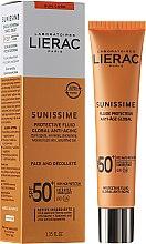 Парфюми, Парфюмерия, козметика Емулсия за лице и деколте - Lierac Sunissime Fluide Protecteur Anti-Age SPF50+
