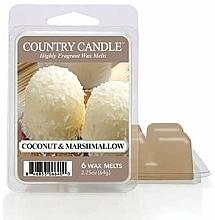 Парфюмерия и Козметика Ароматен восък - Country Candle Coconut Marshmallow Wax Melts