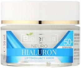 Парфюми, Парфюмерия, козметика Концентриран крем-лифтинг против бръчки 50+ - Bielenda Neuro Hialuron 50+ Lifting Cream
