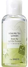Парфюмерия и Козметика Течност за почистване на грим от очи и устни с екстракт от зелен чай - The Saem Healing Tea Garden Green Tea Lip & Eye Remover