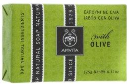 "Парфюми, Парфюмерия, козметика Сапун ""Маслина"" - Apivita Natural Soap with Olive"