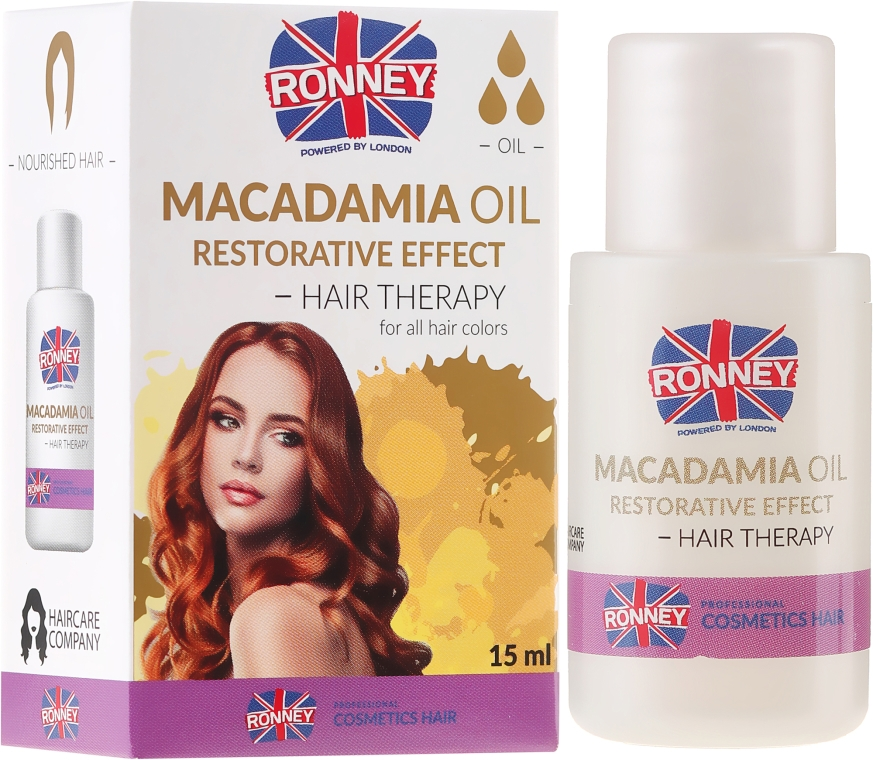 Укрепващо макадамово масло за коса - Ronney Macadamia Oil Restorative Effect Hair Therapy